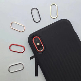 Wholesale Metal Guard - Back Rear Camera Guard Circle Metal Lens Film Protector Case Cover Ring Bumper for Mobile iPhone X Lens Protection Ring+Retail Packing
