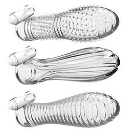 Wholesale Male Masturbator Sleeves - sex toys for man electric Shock crystal sets penis sleeve,sex products male collor,ergonomic clitoral stimulator masturbator