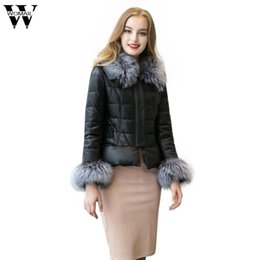 Wholesale Fake Mink Coats -  2017 Women's Winter Fur Coat Fashion Autumn Faux Fur Coat Fake Mink Fur Plus Size Warm Hooded Coat Black Color O25
