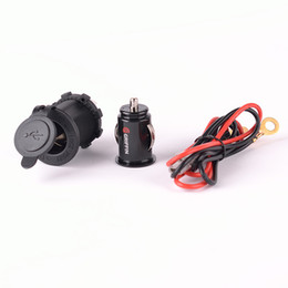 motorrad usb-ladegerät port Rabatt 12V 5V Steckdose Dual USB Port Ladegerät Buchse Splitter Auto Motorrad USB-Ladegerät
