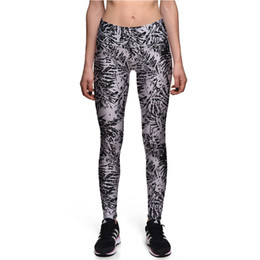 Wholesale Pencil Marking - 2017 New 0106 Fashion Ancient Leaf fossil Mark Prints Sexy Girl Pencil Yoga Pants GYM Fitness Workout High Waist Women Leggings