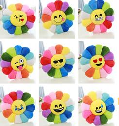 Almofada cute lindo emoji smiley travesseiros on-line-9 estilo Colorido Girassol Almofada Bonito Emoji Smiley Almofadas Almofada Dos Desenhos Animados Amarelo Rodada Almofada Almofada Recheada