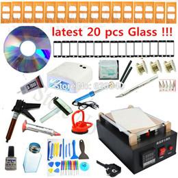 Wholesale T Mobile Lcd Screen - full set Repair Mobile phone Built-in Pump Vacuum Metal Body Glass lcd screen separator machine+UV lamp+Optical Clear Adhesive order<$18no t