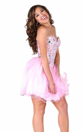 Wholesale Dresses For Young Girls - Sweetheart Tulle Various Color shiny Crystal Beaded Homecoming dresses custom made sleeveless cheap 2014 prom dresses for young girl HY00433