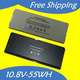"""Wholesale Apple Macbook 13 Battery White - Free shipping- Black and White laptop battery For Apple MacBook 13"""" MA254 MA255 MA699 MA700 A1185 MA561 MA561FE A MA561G A MA561J A 10.8V 55"""