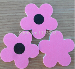 Wholesale Sandpaper Free Shipping - Wholesale-New Arrival Sunflower shapes sandpaper file EVA nail file Nail polish nail tools(Free shipping)