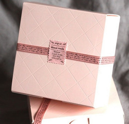 Wholesale Cake Boxes Packaging Pattern - Creative Romantic pink Rhombus pattern DIY Multifunction Packing box Cake box Package paper wholesale