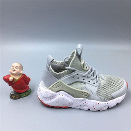 Wholesale Childrens Purple Shoes - kids shoes Fashion Air Huarache Ultra Running Shoes Huaraches Rainbow Ultra Breathe Shoes Childrens Huraches Multicolor Sneakers Size 26-35