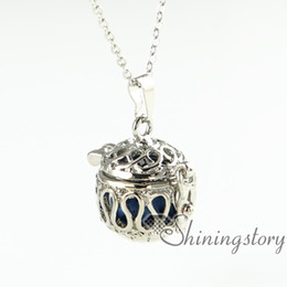 Wholesale Essential Gifts - openwork wholesale diffuser necklace essential oil necklace aromatherapy necklace diffuser pendant