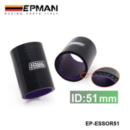 """Wholesale Intercooler Silicone Hoses - EPMAN High Quality Universal 2"""" 51mm 3-Ply Silicone Intercooler Turbo Intake Pipe Coupler Hose BLACK EP-ESS0R51"""