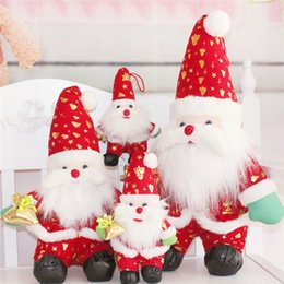 Wholesale Doll Socks Wholesale - Dolls Barbies Dolls Lovely Christmas Doll Decoration Santa Claus Snowman Hanging Tree Ornament Gift Christmas Doll