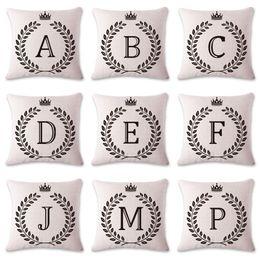 ab3b645b29be 2018 15 kronen Büro Kissenbezug Baumwolle Flachs Pillowslip Für Auto  Dekoration Reichskrone Brief Drucken Kissenbezug 15