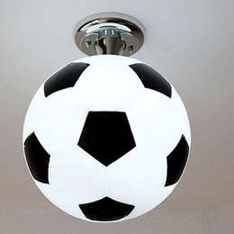 Wholesale Baby Bedroom Lighting - Fashion Boy's Room Football Ceiling Lamp Cute Cartoon Children's Bedroom Ceiling Lights Baby Room Ceiling Lamps Fixtures