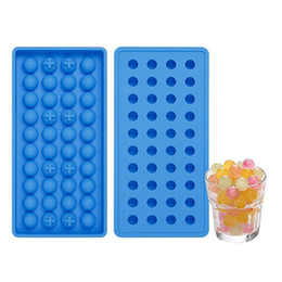 Wholesale Small Silicone Ball - 40 Grid DIY Creative Sphere Small Round Ball Ice Brick Cube Maker Tray Mold Mould Bar Drink Whiskey Ice Tray wen4666