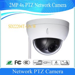 Wholesale Dahua Ptz - Free Shipping DAHUA IP Camera CCTV 4X 2MP WIFI Full HD Mini Network PTZ Dome Camera Without Logo SD22204T-GN-W