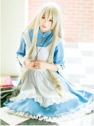 Wholesale Japanese French Maid Costume - Anime Kagerou Project Cosplay Clothes Kozakura Mari Cosplay Cute Lolita Costume pinafore + dress meidofuku French maid cosplay