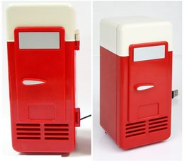 Wholesale Home Fridge - Hardly any noise Mini USB-Powered Fridge Cooler for Beverage Drink Cans in Cubicle and Home office