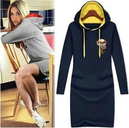 Wholesale Slimming Elegant Clothes - 2014 new hot fashion women clothing girl casual dress winter dress wild slim Elegant long sleeve Plus size Slim Casual Hooded
