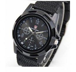 Wholesale cool military watches - Fashion Military Sports Cool Watch Men Watches Top Brand Luxury Gemius Army Quartz Watch Analog Montre Convas Wristwacthes