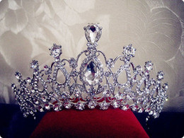 Wholesale Tiaras For Sale - Oversize Crystal Bride Hair Accessory Wedding Tiaras and Crown for Sale Rhinestone Pageant Crowns Head Jewelry Hair Ornament