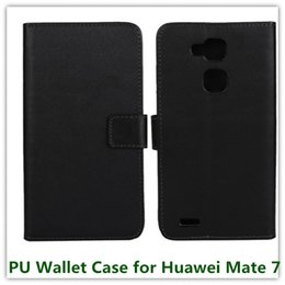 Wholesale Huawei Ascend Mate Black - 1PCS Fashion Black PU Leather Mulit Stand Folding Money Wallet Case for Huawei Ascend Mate 7 with ID Card Holder Free Shipping
