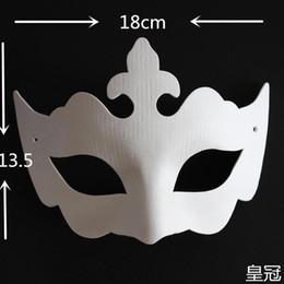 Wholesale Plain Paper Masquerade Masks - Environmental Paper Pulp Plain White Masquerade Half Mask For Women , DIY Fine Art Painting Programs 10pcs lot Free shipping