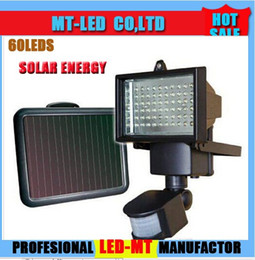 Wholesale Solar Garden Flood Light - 2015 LED Solar New Arrival 60 LED Solar outdoor wall lamps garden lighting LED Flood Security Garden Light with Motion Sensor Solar Lamp