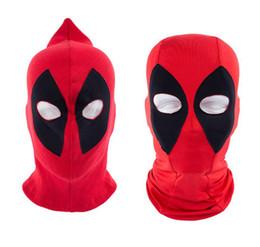 Wholesale Deathstroke Mask - 10pcs 2016 Hot New U.S Deadpool Masks Balaclava Halloween Cosplay Costume X-men Hats Headwear Arrow Deathstroke Rib Fabrics Full Face Mask