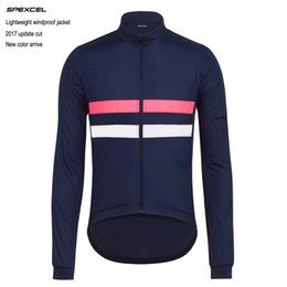 Wholesale Wholesale Breathable Jackets - SPEXCEL New long trip Lightweight windproof jacket Long sleeve cycling windbreak Jacket with Reflective stripe for low light