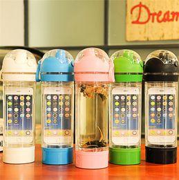 детские бутылочки для воды Скидка 5 шт./лот iBottle герметичность воды Тритан бутылка с внутренним отсеком для хранения для iPhone 6 шейкер бутылка чайник велосипед спорт бутылка
