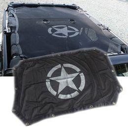 máscaras de porta Desconto Atacado-DEVE NO VERÃO 2/4 Portas Toldo Roof Sombra Net Top Cover Proteção UV Adequado para Jeep Wrangler Unlimited JK Acessórios