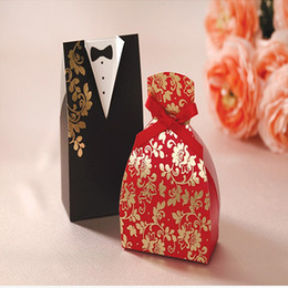 Wholesale Cheap Candy Gifts - 2018 Fashion Cheap Wedding Candy Boxes Groom &Bride Papery 100pecs  Lot Special wedding Favor Holders For Wedding Gust Gifts Free Shpping