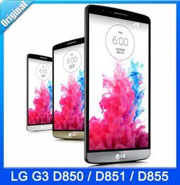 "Wholesale Lg Smartphone Unlocked - 100% Original LG G3 D855 Cell Phone Unlocked 3G 4G Camera 3GB RAM 32GB ROM Quad Core Android 5.5"" Inch Smartphone Free Shipping"