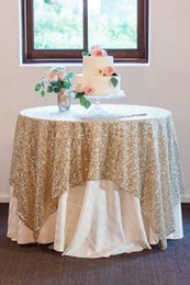 Wholesale Table Cloth Crochet - Great Gatsby wedding table cloth custom size round and rectangle Add Sparkle with Sequins wedding cake table idea