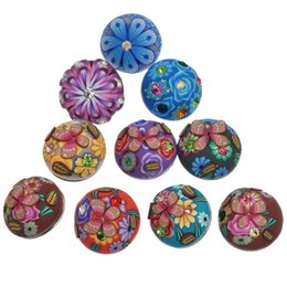 Wholesale Fimo Accessories - Inlaid Crystal Rhinestone Fimo Noosa Chunks DIY Ginger Snaps Interchangeable Jewelry Personalized 19 mm Snap Button Accessories K80052