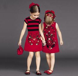 2019 chicas flora vestidos de algodon 2016 Primavera 100-150 Big Girls Rebordear Flora Jacquard Vestido Sin Mangas de Algodón Niños Ropa Niños Vestidos K6351 chicas flora vestidos de algodon baratos