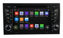 Wholesale Car Stereo Usb Tv - Pure Android 4.4 Dual Din 7inch Car DVD Player for Audi A4 2003-2011 GPS Navigation Radio TV BT USB AUX 3G WIFI DVR Audio Stereo with Canbus