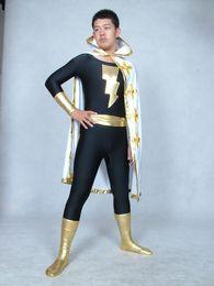 Marvel traje de superhéroe cosplay online-Marvel Family Black Adam Superhero Costume Halloween Cosplay party zentai suit