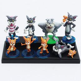 Wholesale Tom Jerry Dolls - Tom and Jerry Figure toy Dolls Cute Cartoon Action Figures Toy Dolls Set Of 9 (1set=9pcs)