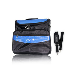 Wholesale Console Bag - Game Accessories for PS4 & PS4 Slim bag Travel Carry Shoulder Bag For Sony PS4 VR Playstation 4 Console Analog Cap