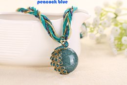 Wholesale Vintage Plastic Charm Necklace - Miao Style Vintage Charms Necklace Resin Rope Chain Pendant Necklace Jewelry For Party And Wear In Each Day