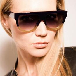 Кошачий глаз в форме очков оптом онлайн-Оптово-2016 Новая мода Солнцезащитные очки Женщины Высокого качества Ацетат Top Flat Shield Shape Солнцезащитные очки Vintage Cat Eye Очки cuculos Q101