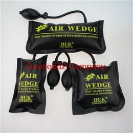 Wholesale Car Air Pumps - 2015 Hot selling HUK PUMP WEDGE LOCKSMITH TOOLS Auto Air Wedge Lock Pick Open Car Door Lock 3 PCS air bag
