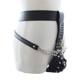 Wholesale Cock Strap Harness - Quality Faux Leather Men's Chastity Belt with Lockable Cock Shealth and Jock Strap Body Harness Restraint Adjustable