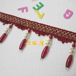 Wholesale Crystal Beaded Curtains Wholesale - Wholesale-Cheap curtain lace curtain accessories accessories crystal beaded tassels long ball sub wholesale
