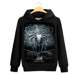 Wholesale Spiderman Sweatshirt - Spider-man 3D Print sweatshirt Men Black Superherofleece hoodies sweatshirts Spiderman Teenage Boy The Avengers Clothing