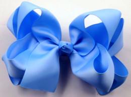 "Wholesale Double Bow Clips - 30pcs 6"" Double Layer Boutique grosgrain Hair Bow Hairbow Headdress Headwear clip 36 color choose"