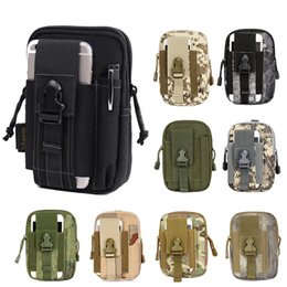 Wholesale Military Belt Waist Bags - Outdoor Camping Climbing Bag Tactical Military Molle Hip Waist Belt Wallet Pouch Purse Phone Case for iPhone 7 8 X for Samsung S8