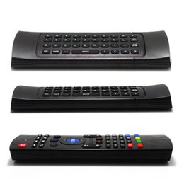 Wholesale Free Tv Laptop - X8 Air Fly Mouse MX3 2.4GHz Wireless Keyboard Remote Control Somatosensory for MX3 MXQ M8 M8S Android TV Box Smart box 10pcs Free Shipping