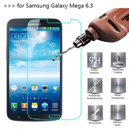 2019 протектор экрана samsung mega Закаленное стекло Защитные пленки для Samsung Galaxy Mega 6.3 I9200 2.5 D взрыв Shatter Экран протектор фильм DHL логистики дешево протектор экрана samsung mega